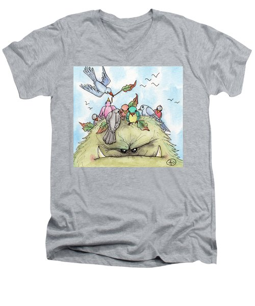 Bird Brained Men's V-Neck T-Shirt