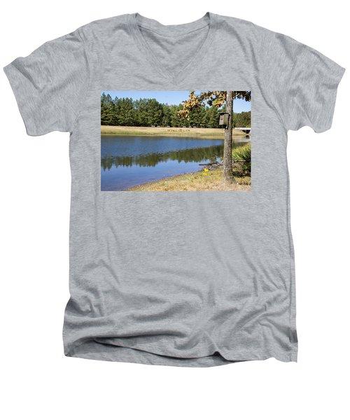 Bird House Lake Men's V-Neck T-Shirt