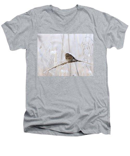 Bird In First Frost Men's V-Neck T-Shirt