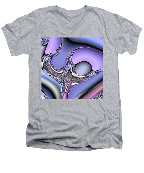 Bird Nest Fractal Men's V-Neck T-Shirt