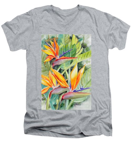 Bird Of Paradise Flowers Men's V-Neck T-Shirt