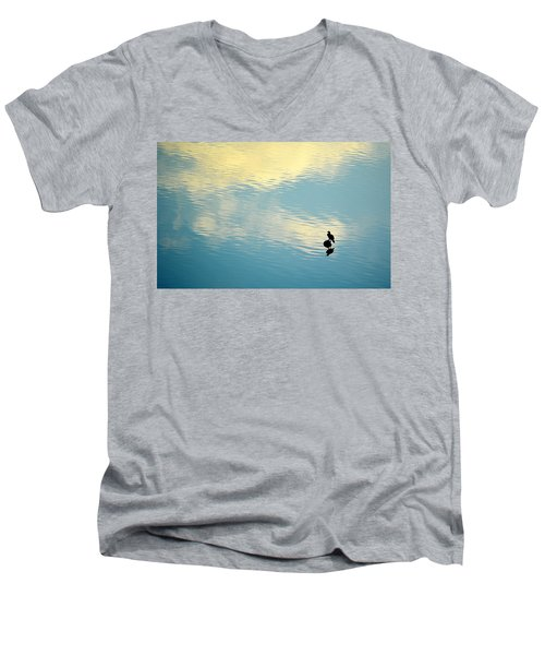 Bird Reflection Men's V-Neck T-Shirt