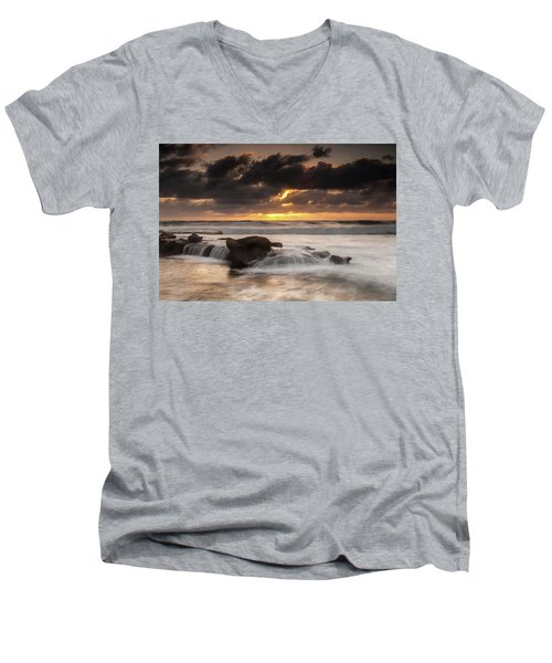 Bird Rock Clearing Storm Men's V-Neck T-Shirt