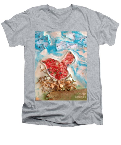 Bird Song Men's V-Neck T-Shirt