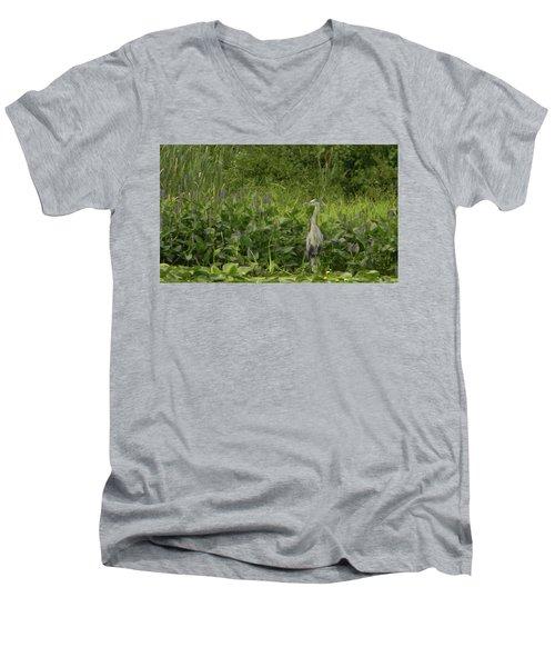 Bird Waiting Men's V-Neck T-Shirt