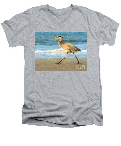 Bird With A Purpose Men's V-Neck T-Shirt