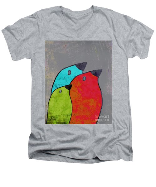 Birdies - V11b Men's V-Neck T-Shirt by Variance Collections