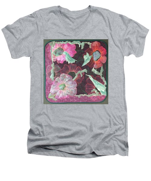 Birds And Blooms Men's V-Neck T-Shirt
