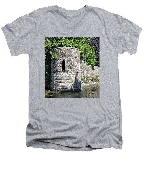 Birds Eye View Men's V-Neck T-Shirt by Linda Prewer