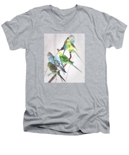 Birds Of A Feather Men's V-Neck T-Shirt by Robin Regan