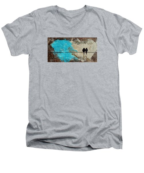 Birds On A Wire II Men's V-Neck T-Shirt