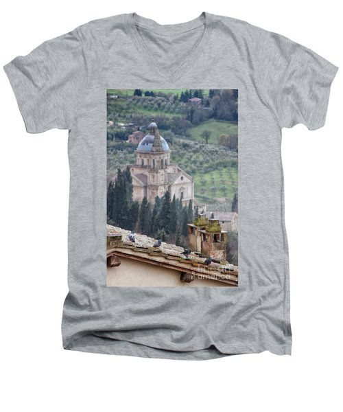 Birds Overlooking The Countryside Men's V-Neck T-Shirt