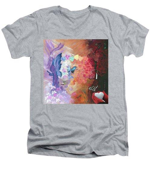 Birth Of A Monarch Men's V-Neck T-Shirt