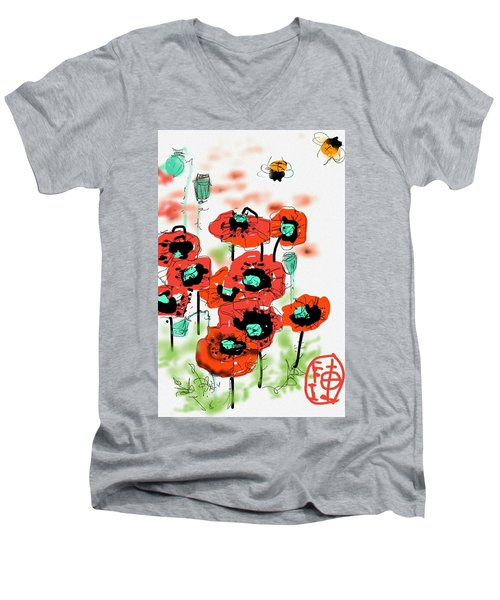 Birthday Field Of Flowers  Men's V-Neck T-Shirt