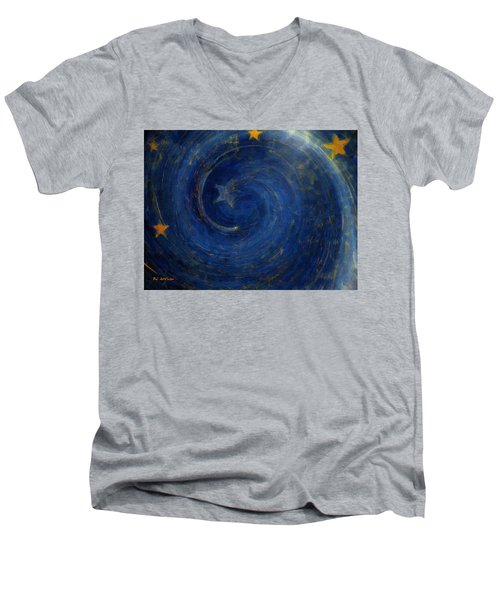 Birthed In Stars Men's V-Neck T-Shirt