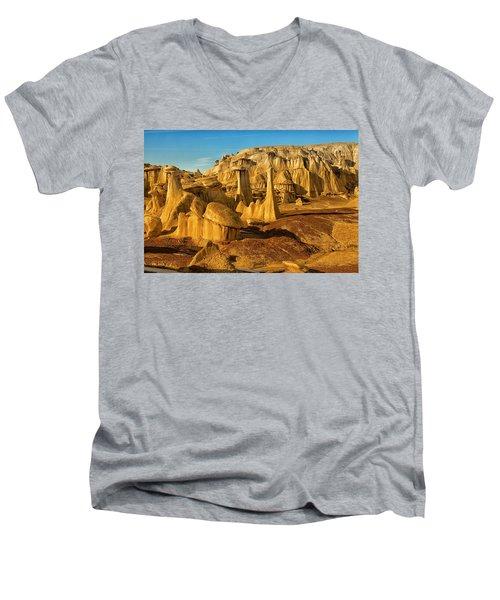 Bisti Badlands Fantasy Men's V-Neck T-Shirt by Alan Vance Ley