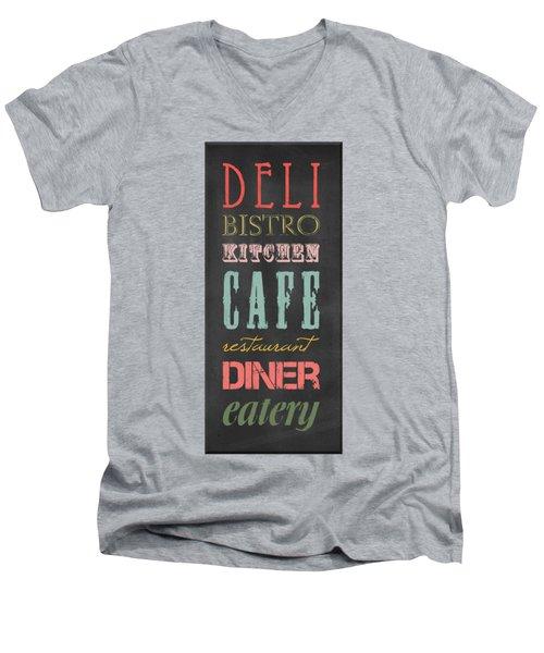 Bistro Cafe Sign Men's V-Neck T-Shirt by B Gazarek