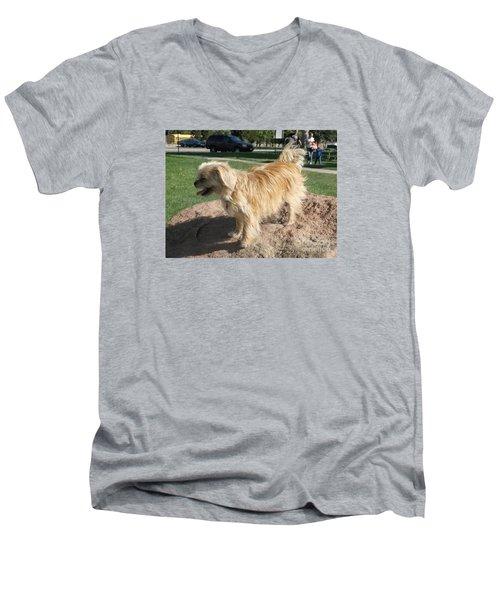 Bits On The Rocks Men's V-Neck T-Shirt
