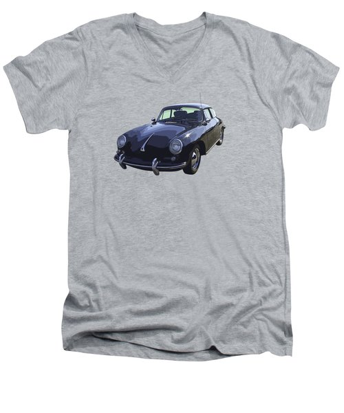 Black 1962 Porsche 356 E Sportscar  Men's V-Neck T-Shirt