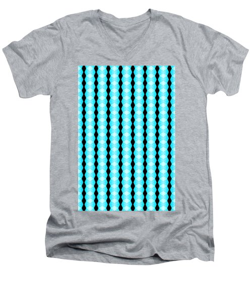 Black And Blue Diamonds Men's V-Neck T-Shirt by Bob Wall