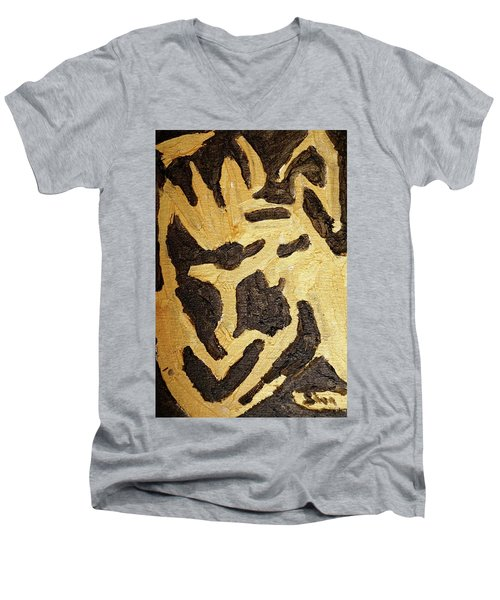 Black And Gold Mask Men's V-Neck T-Shirt