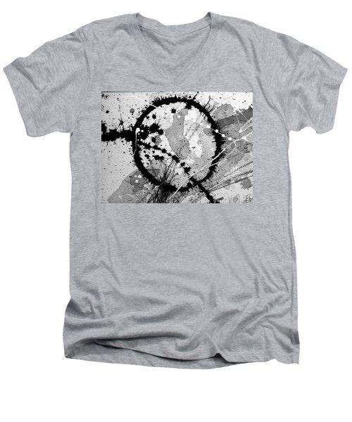 Black And White Five Men's V-Neck T-Shirt by Tracy Bonin