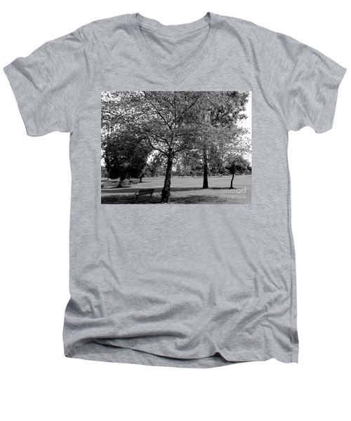 Black And White Nature Men's V-Neck T-Shirt