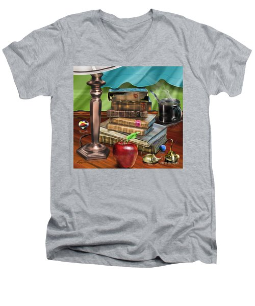 Black Art A Still Life Men's V-Neck T-Shirt