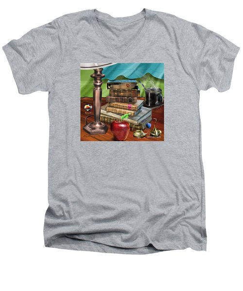 Black Art A Still Life Men's V-Neck T-Shirt