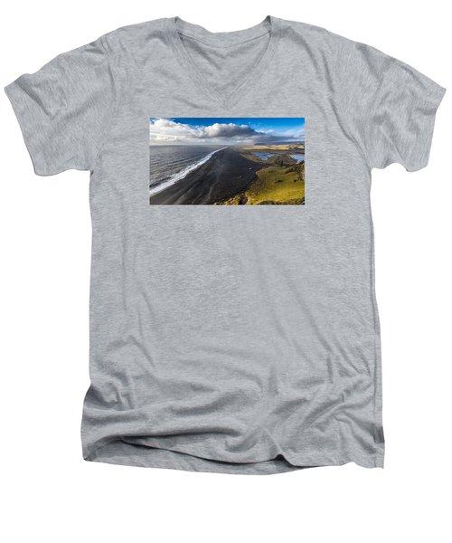 Black Beach Men's V-Neck T-Shirt