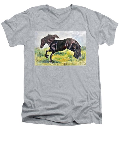 Black Beauty Men's V-Neck T-Shirt