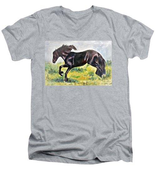 Black Beauty Men's V-Neck T-Shirt