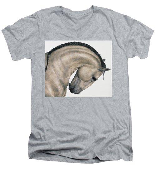 Black Braid Men's V-Neck T-Shirt