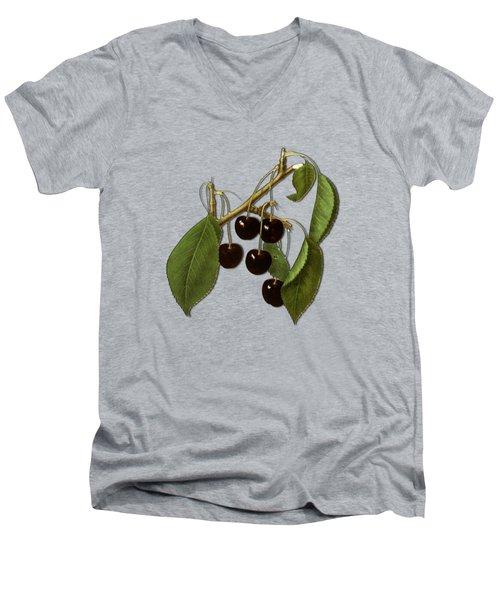 Black Cherries Men's V-Neck T-Shirt