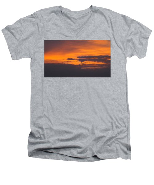 Black Cloud Sunset  Men's V-Neck T-Shirt by Don Koester