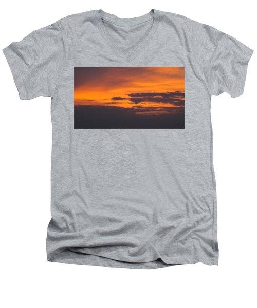 Black Cloud Sunset  Men's V-Neck T-Shirt
