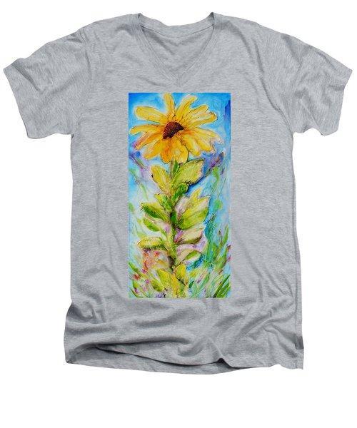 Black Eyed Susan Men's V-Neck T-Shirt by Theresa Marie Johnson