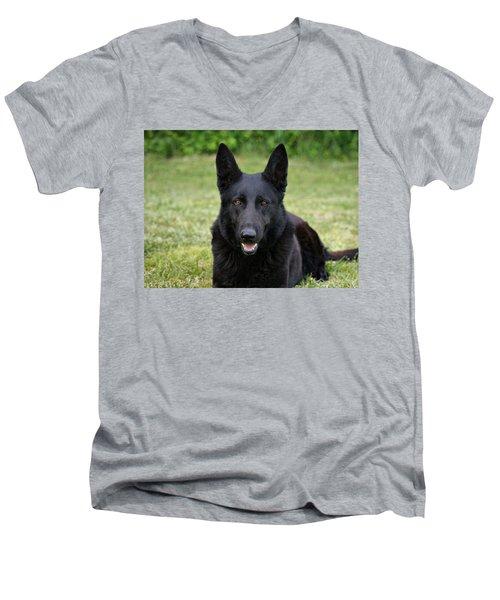 Black German Shepherd Dog II Men's V-Neck T-Shirt