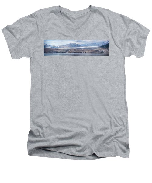Black Glacier Men's V-Neck T-Shirt