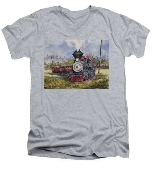Black Hills Central Number 7 Men's V-Neck T-Shirt