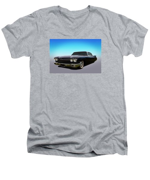 Men's V-Neck T-Shirt featuring the photograph Black by Keith Hawley