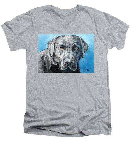 Black Lab Men's V-Neck T-Shirt