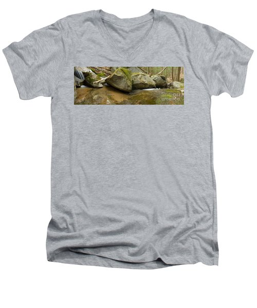Black Mountain Pano Men's V-Neck T-Shirt