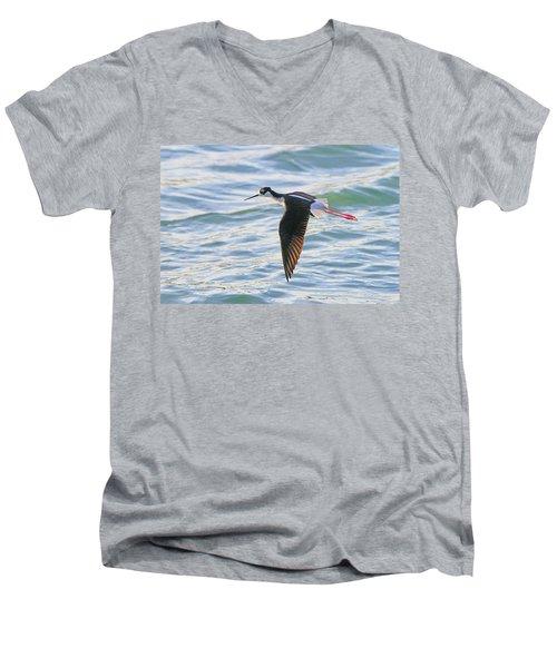 Black-necked Stilt 8 Men's V-Neck T-Shirt