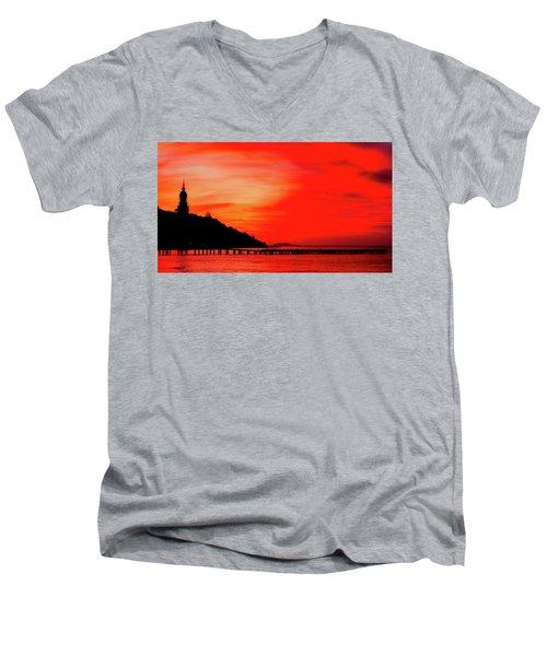 Black Sea Turned Red Men's V-Neck T-Shirt by Reksik004