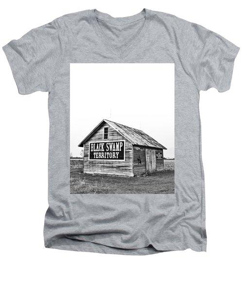 Black Swamp Territory Men's V-Neck T-Shirt