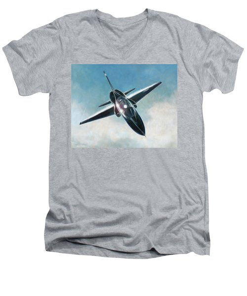 Black T-38 Men's V-Neck T-Shirt
