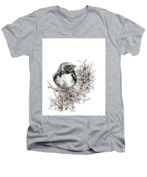 Black-throated Blue Warbler Men's V-Neck T-Shirt