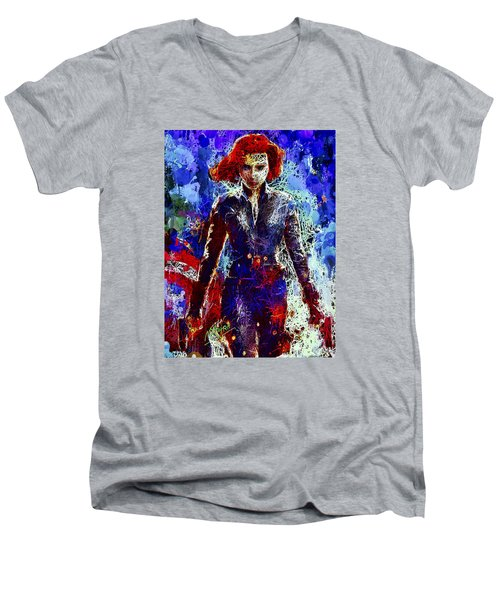 Black Widow Men's V-Neck T-Shirt