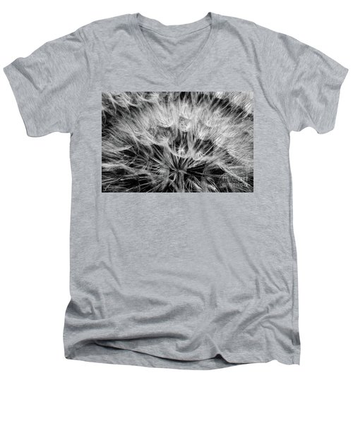Black Widow Dandelion Men's V-Neck T-Shirt by Iris Greenwell